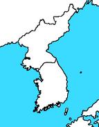 Blank Map of Korea