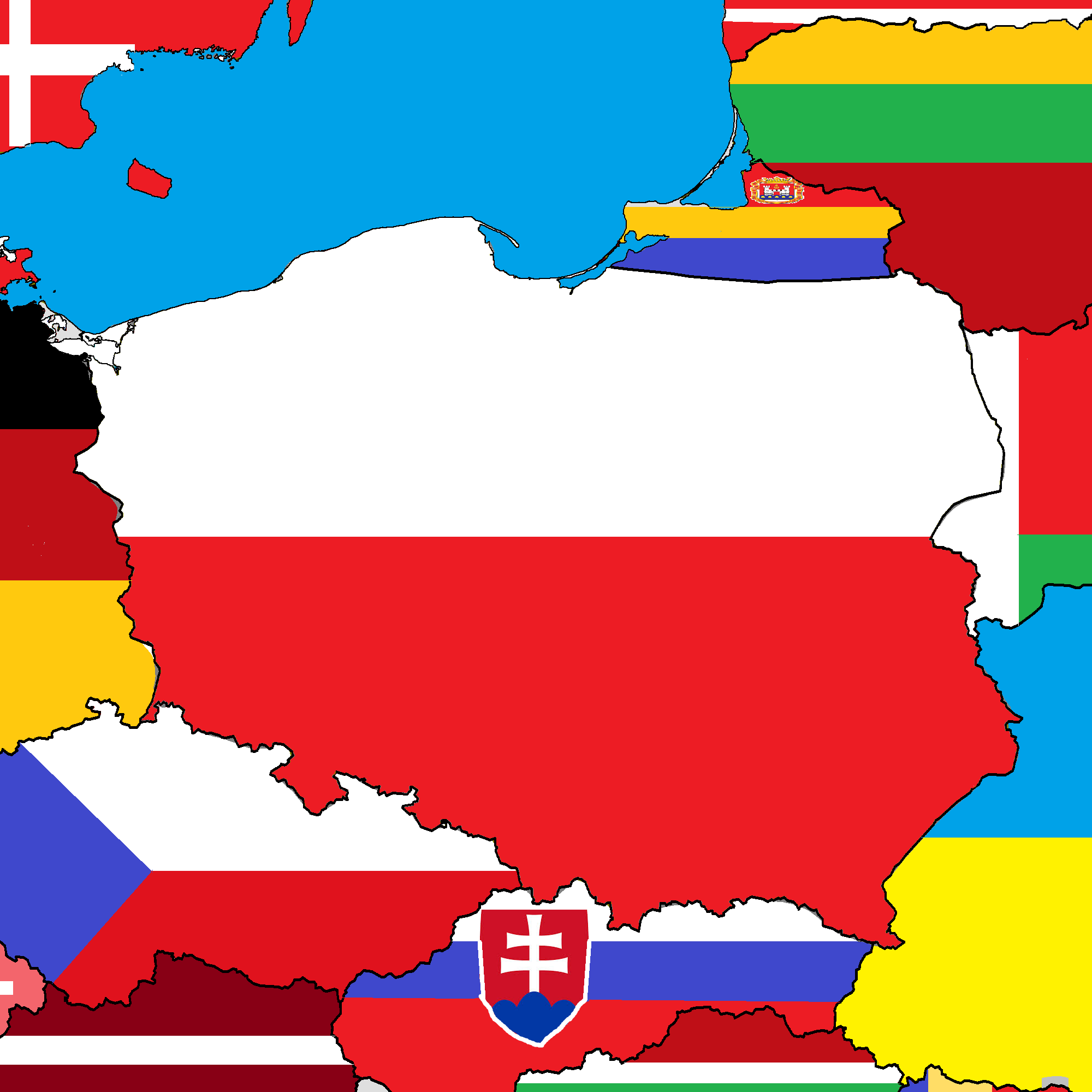 Image poland map with flagg thefutureofeuropes wiki fandom poland map with flagg gumiabroncs Choice Image