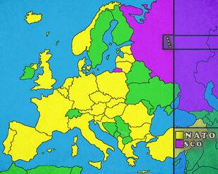 Modern Map of Europe 2017
