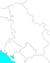 Blank map of Serbia