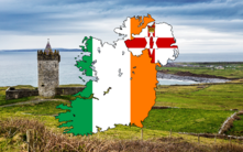 Flag map of Ireland