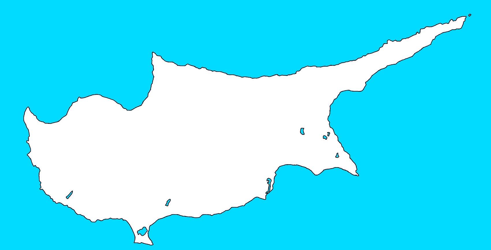 Image Cyprus Blank Mapjpg TheFutureOfEuropes Wiki FANDOM - Cyprus blank map