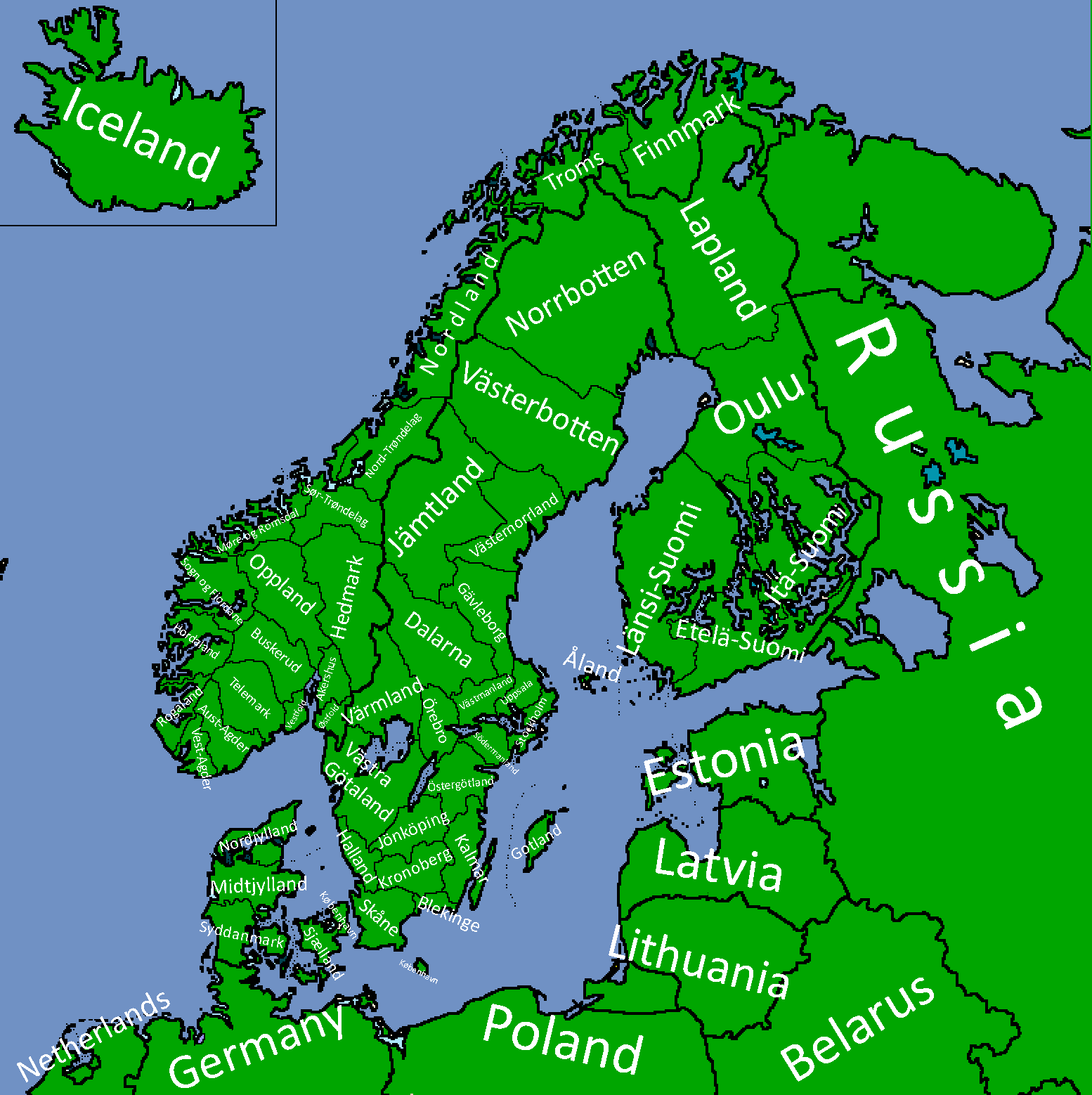 Divided Scandinavia (Map Game) | TheFutureOfEuropes Wiki | FANDOM ...