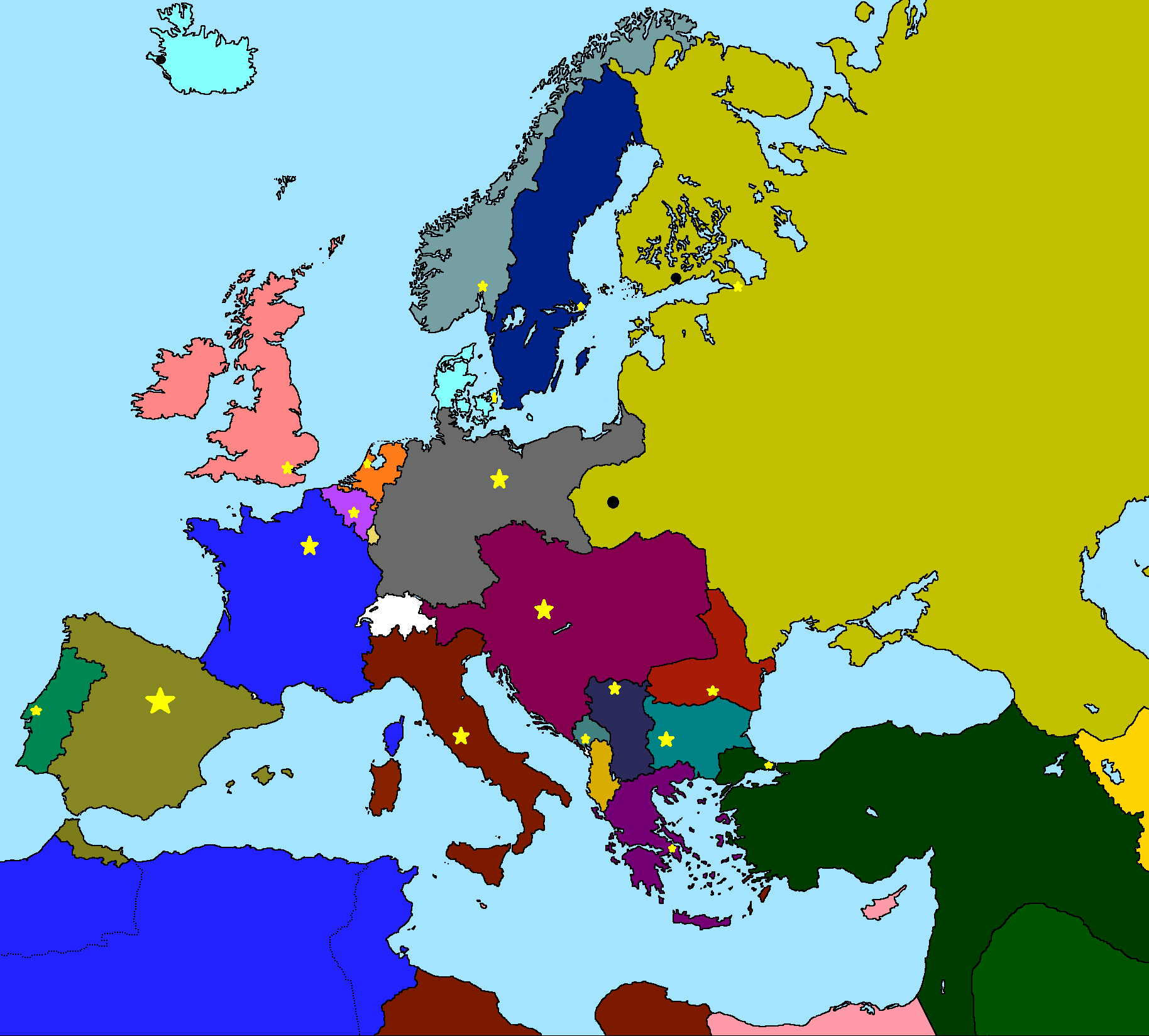 Maps for mappershistorical maps thefutureofeuropes wiki ww1 colored map with capitals gumiabroncs Image collections