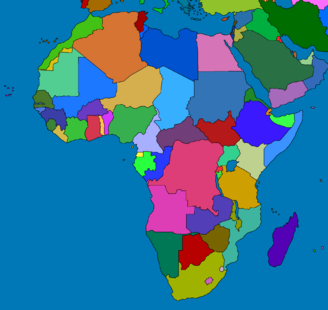 Africa map no layers