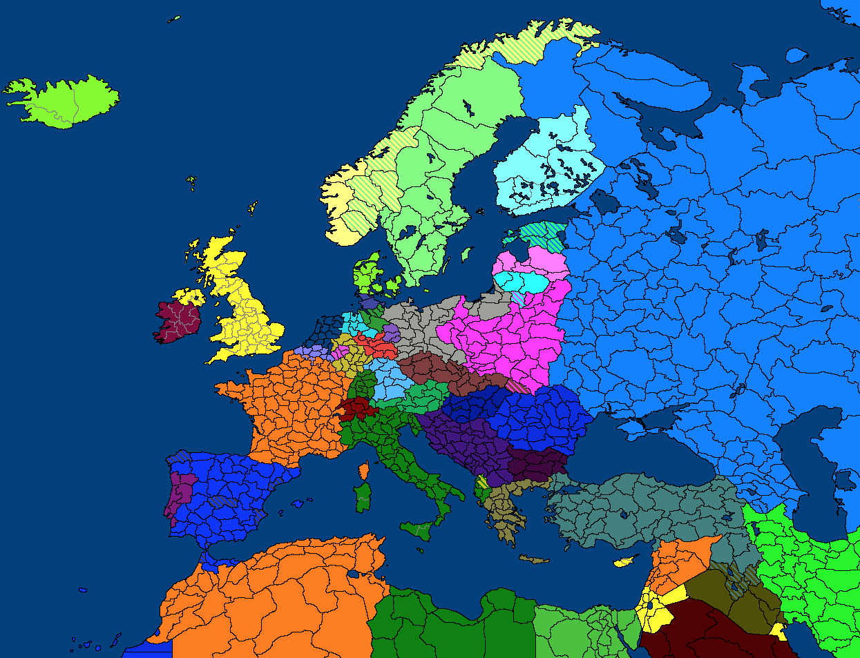 Alternate world war ii map game thefutureofeuropes wiki fandom the embargoes continue but france looks towards the americas for trading pacts and their economy slowly rises france also diplomatically annexes the tiny gumiabroncs Gallery