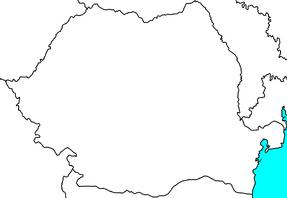 Blank map of Romania