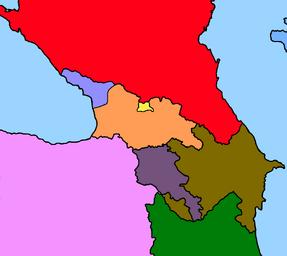 Caucas modern map