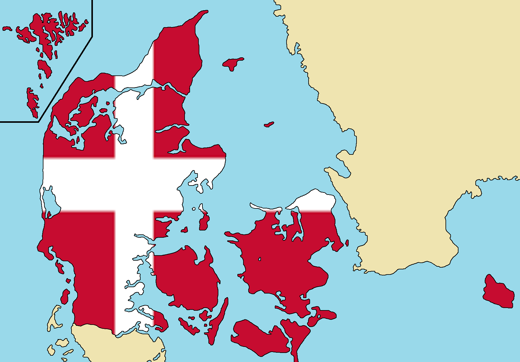 Image - Blank Map of Denmark.png | TheFutureOfEuropes Wiki | FANDOM ...