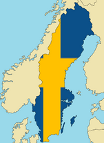 Blank Map of Sweden