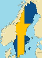 Blank Map of Sweden