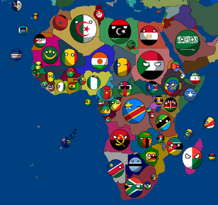 Countryballs Africa