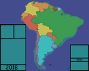 My South American map
