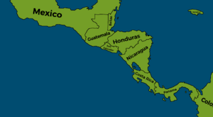 Central America Map PNG