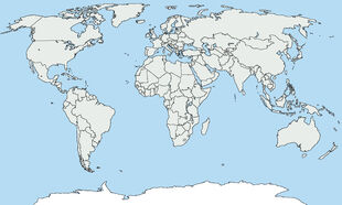 Blank Map of World