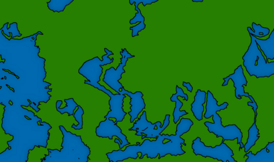 Map of the world if all sunken land rise