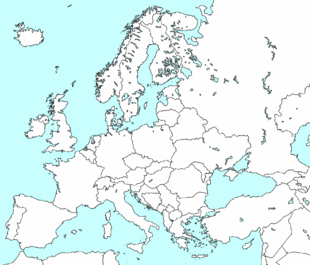 Clean lank map of Europe