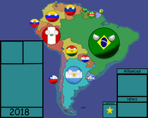 My South American countryball map