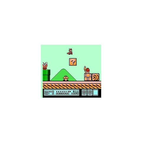 This is a screenshot of Leaf Mario in Giant World.