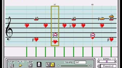Final Fantasy IV SMRPG Culex Theme on Mario Paint Composer