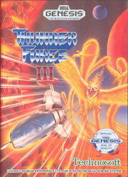 Thunder Force 3 Genesis Box Art