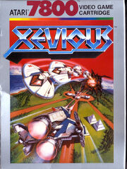 Xevious Atari 7800 Box Art