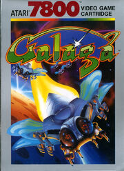 Galaga 7800 Box Art