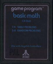 Basic Math Atari 2600 Cart