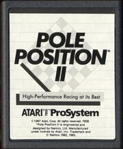 Pole Position 2 Atari 7800 Cart