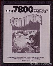 Centipede Atari 7800 Cart