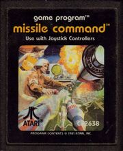 Missile Command 2600 Cart