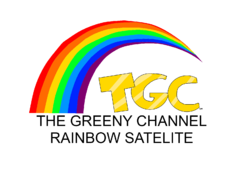 The Greeny Channel Rainbow Satelite logo