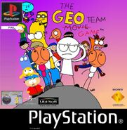 The Geo Team Game PS1 PAL cover art
