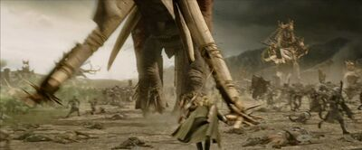 Legolas kill Mumakil