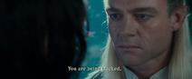 Celeborn warns Aragorn