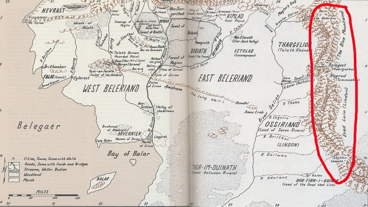 Beleriand map