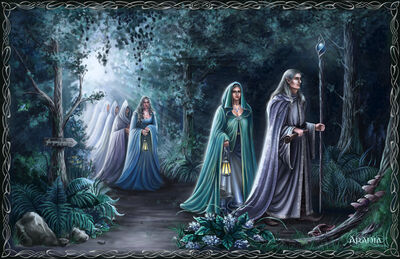 Elves leave middle earth by araniart-d3aff8y