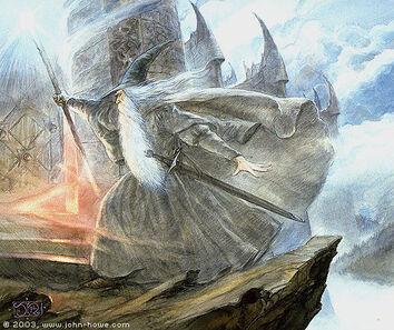 Gandalf Pass the Doors of Dol Guldur