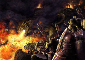 Glaurung and the Dwarves of Belegost