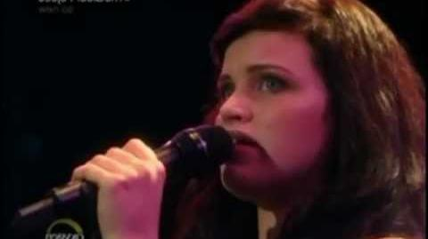 Ep 8 Lindsay performing 'Maybe this time'