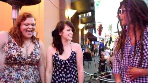 Samuel, Lindsay, and Hannah from the Glee Project sing Ice Ice Baby UNIVERSAL CITY WALK