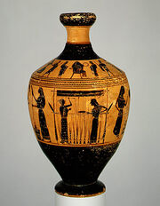 Vase Painting Greek Attic Amasis 550-530BC