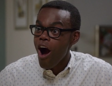Chidi being adorable