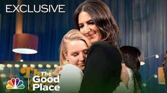 The Emotional Cast Talks Finale with Seth Meyers - The Good Place