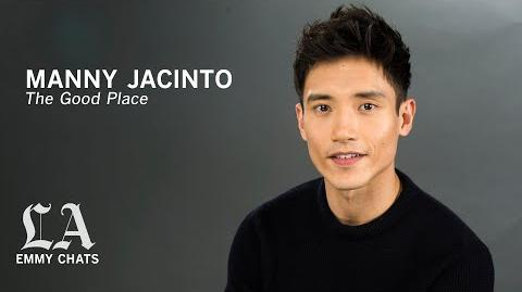 Manny Jacinto puts a lot of thought into playing lovable dummy Jason on 'The Good Place'