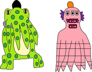 Harold and Gladys as Tentacled Monsters