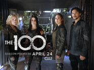 Clarke, Octavia, Raven, Bellamy first look
