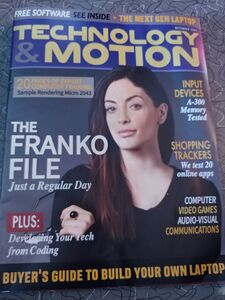Becca on the magazine