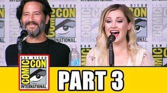 THE 100 Season 4 Comic Con Panel (Part 3) - Eliza Taylor, Lindsey Morgan, Marie Avgeropoulos
