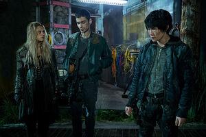 S3 episode 12 (Demons) - Clarke, Monty & Jasper
